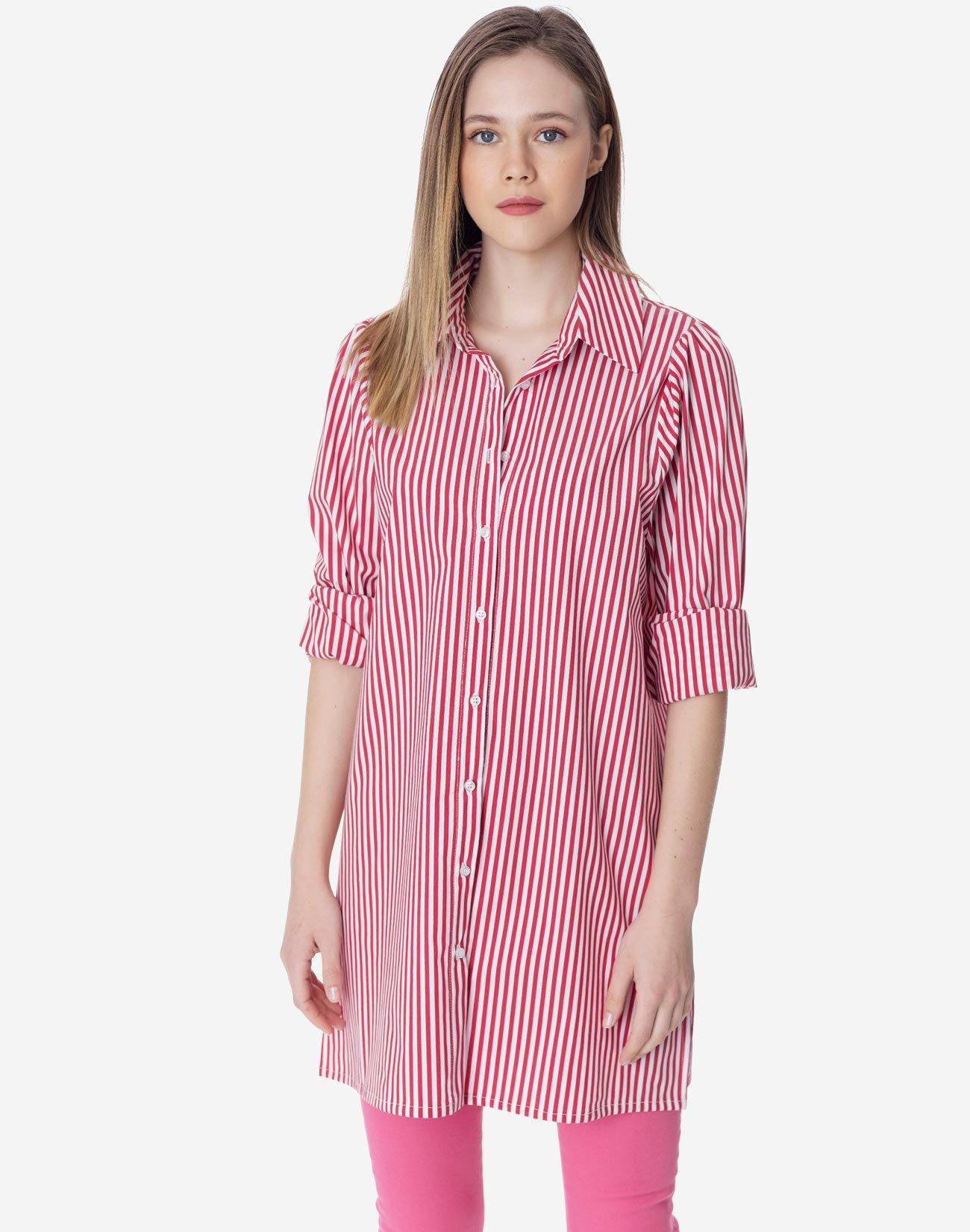 Striped oversized shirt