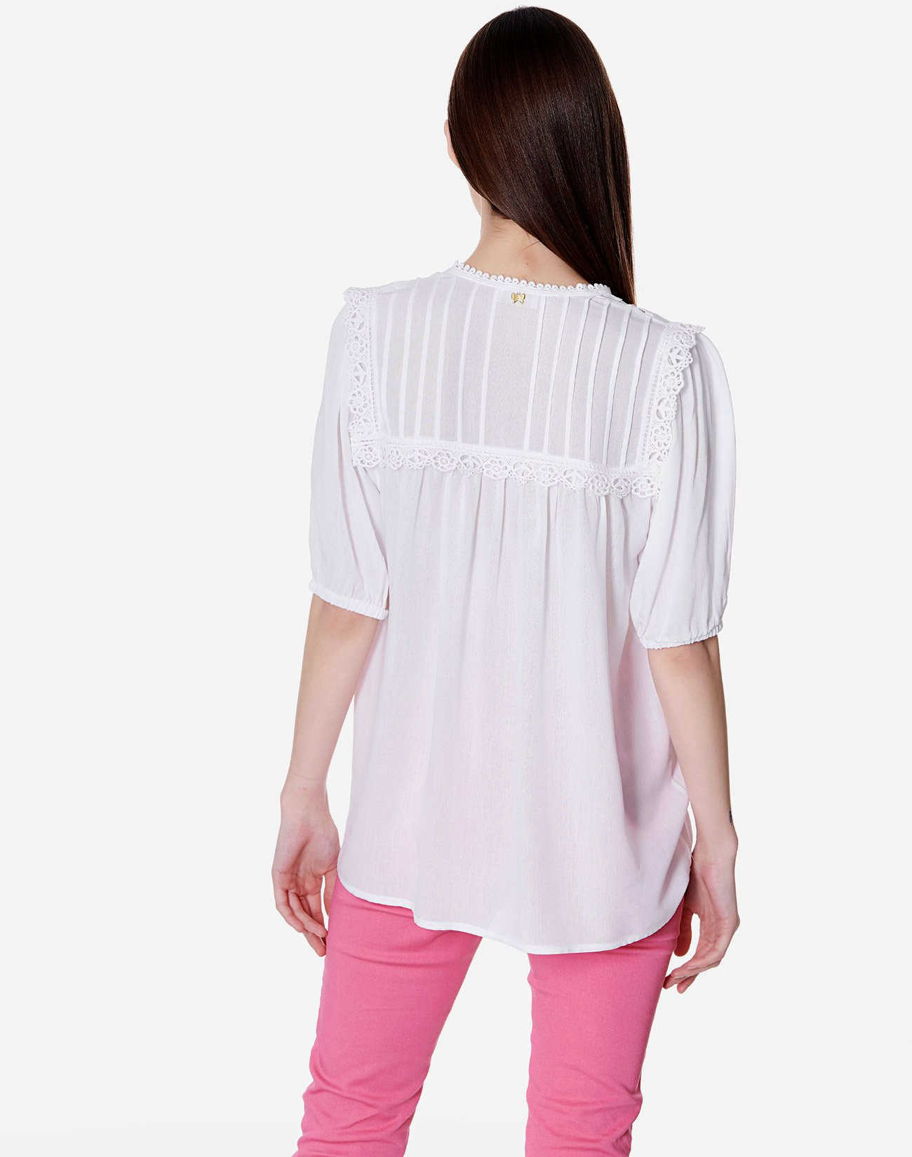 Ecovero viscose top with lace