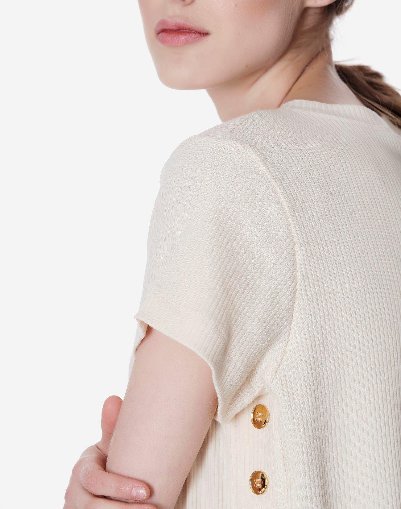 Μπλούζα ριπ με κουμπιά