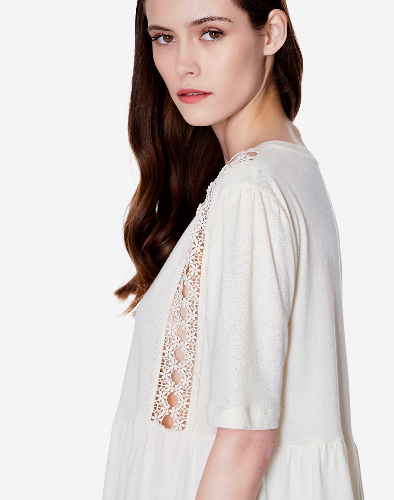 Top with lace detail