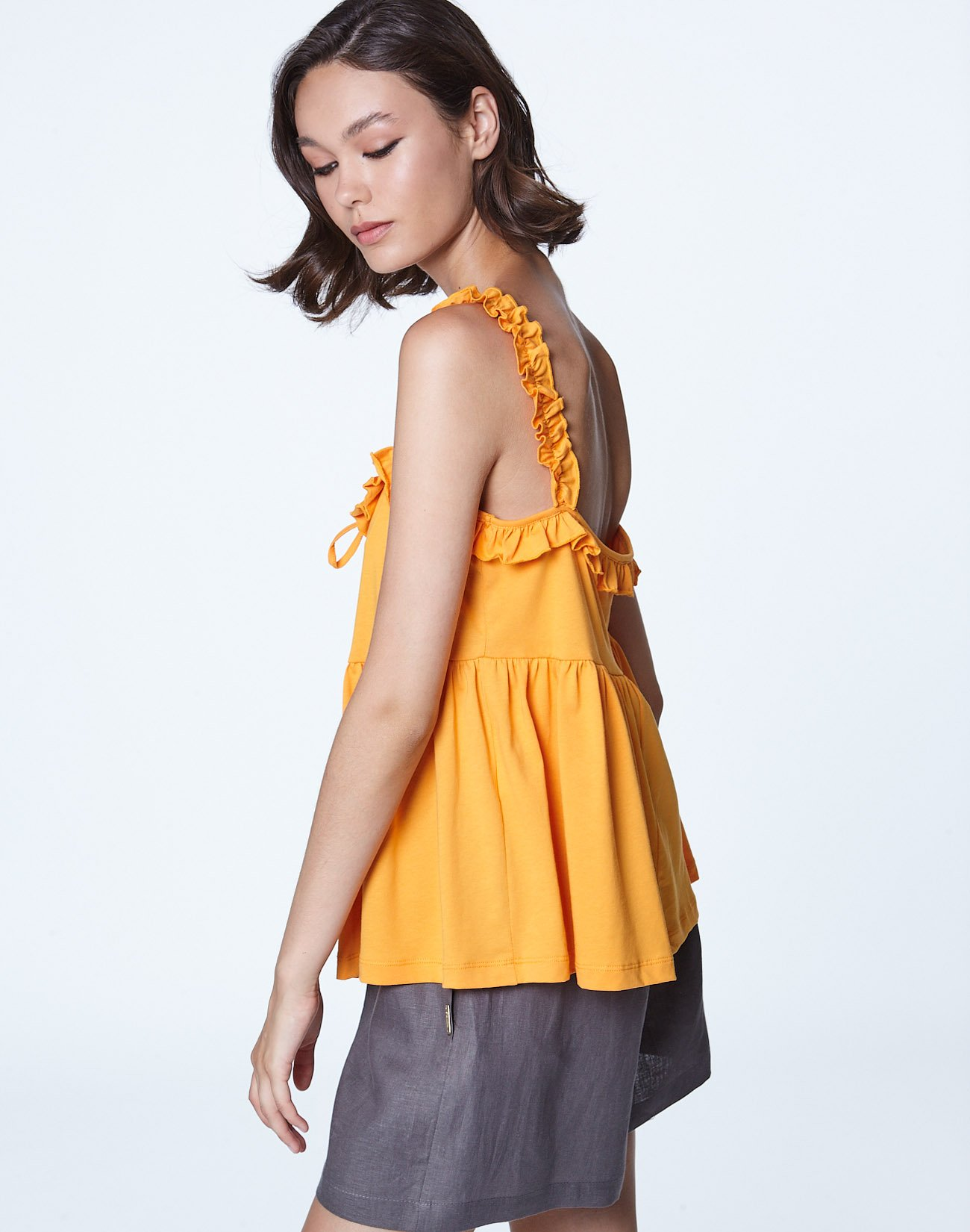 Top with ruffles