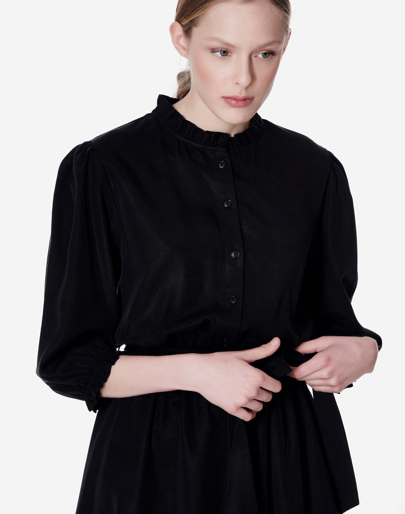 Μίνι φόρεμα με όρθιο γιακά