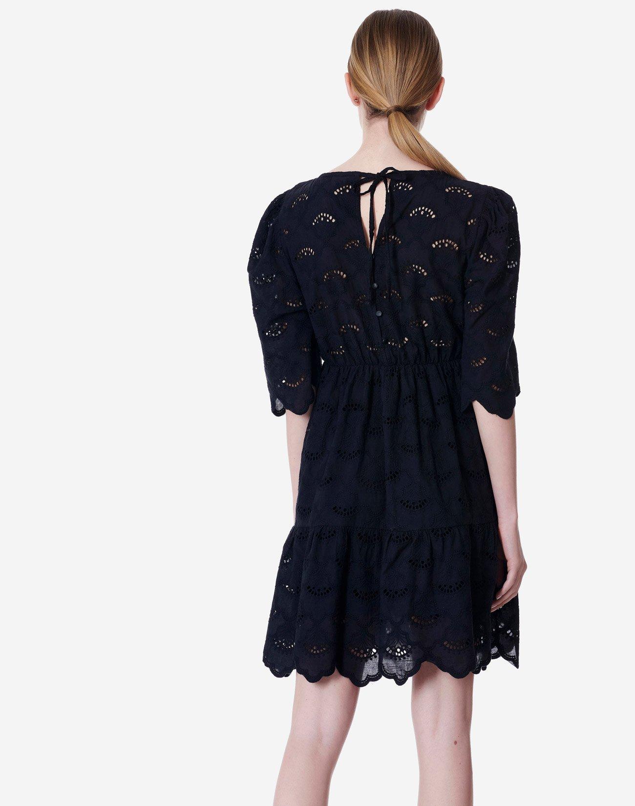 Mini dress with cutwork detail