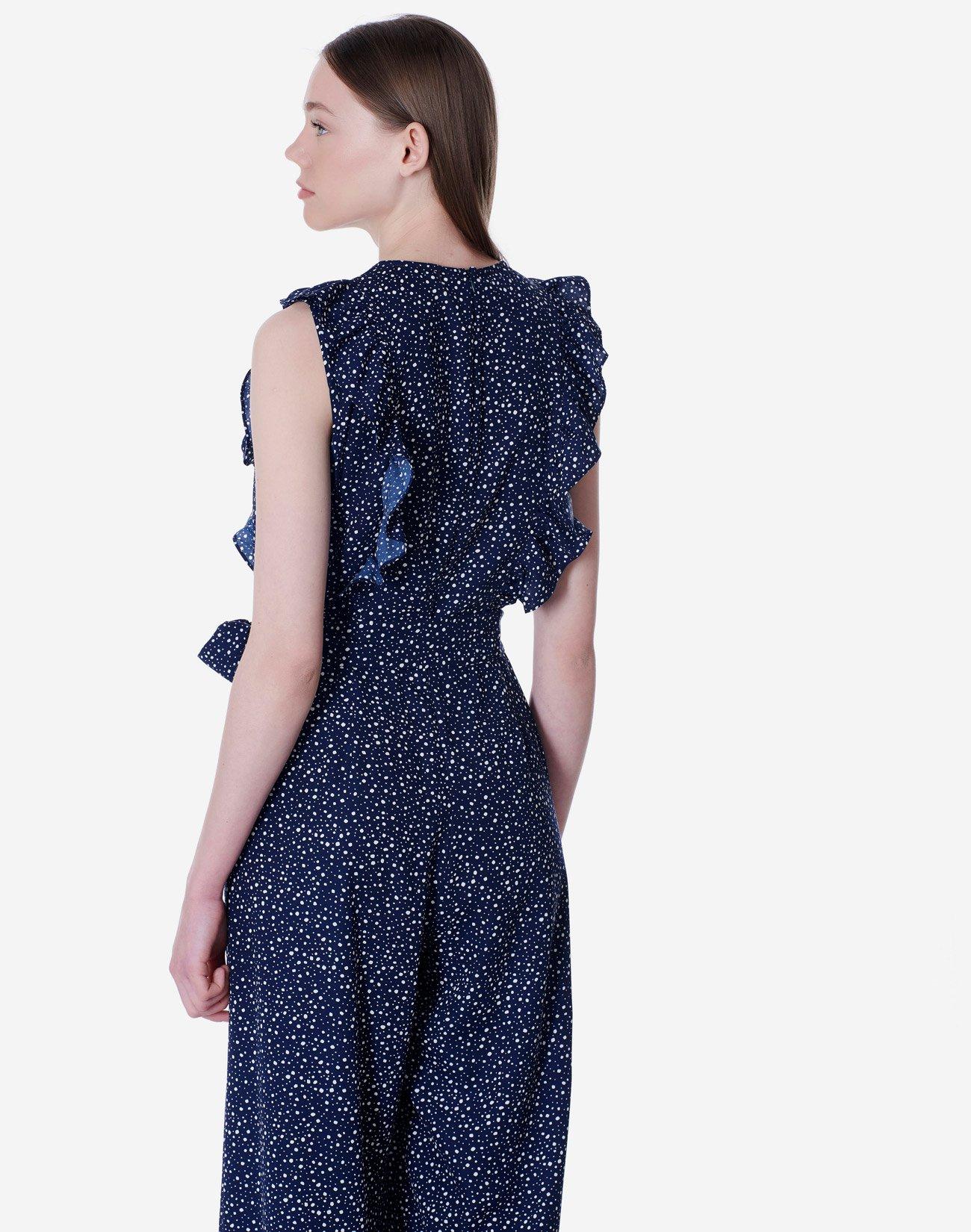 Ruffled printed jumpsuit
