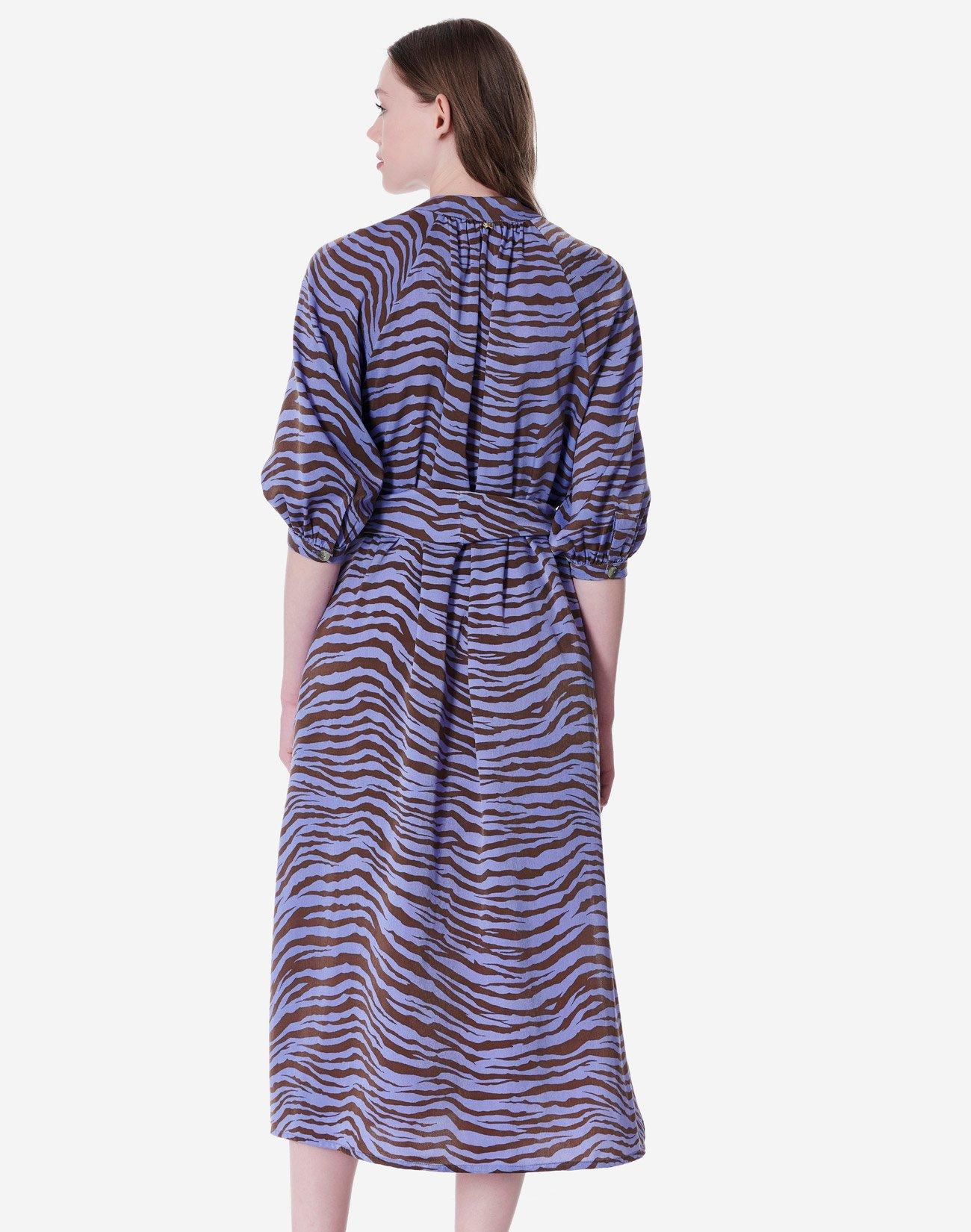 Animal print shirt dress