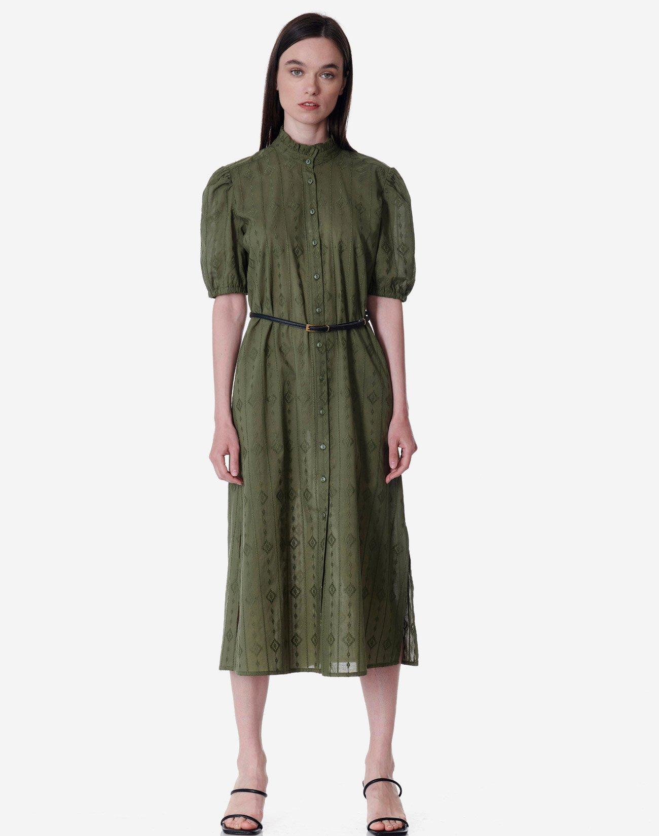 Μίντι φόρεμα με διάτρητο σχέδιο