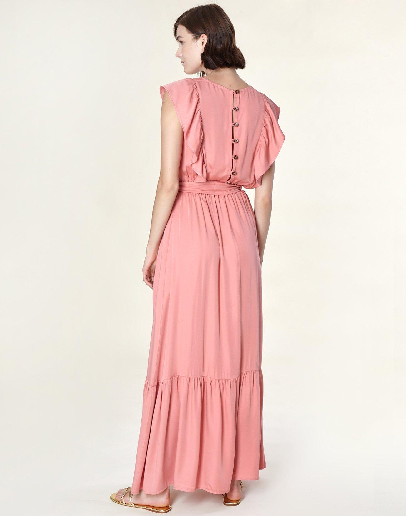Μάξι φόρεμα με βολάν