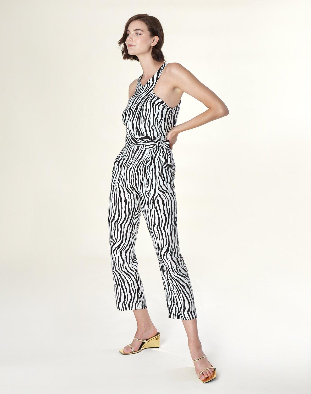 Animal print ολόσωμη φόρμα