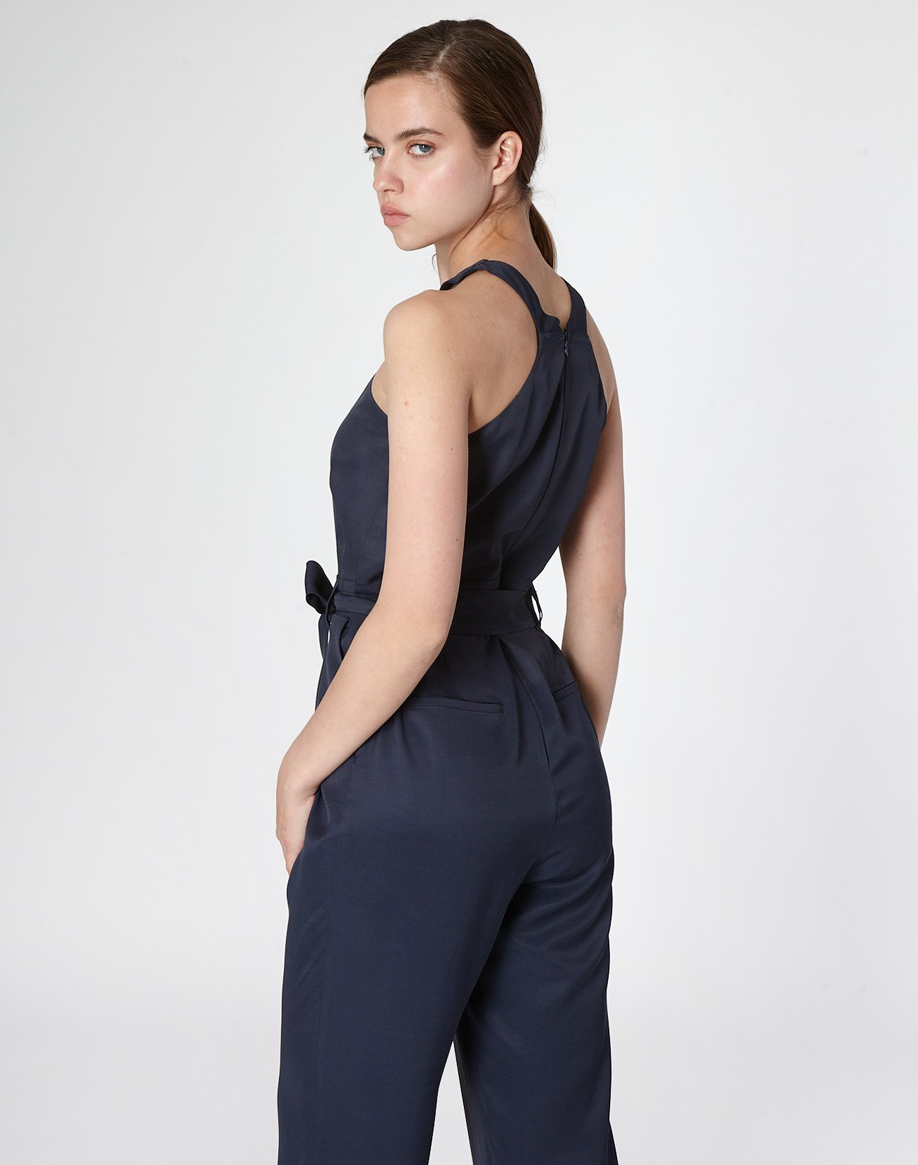 Jumpsuit with crossover detail