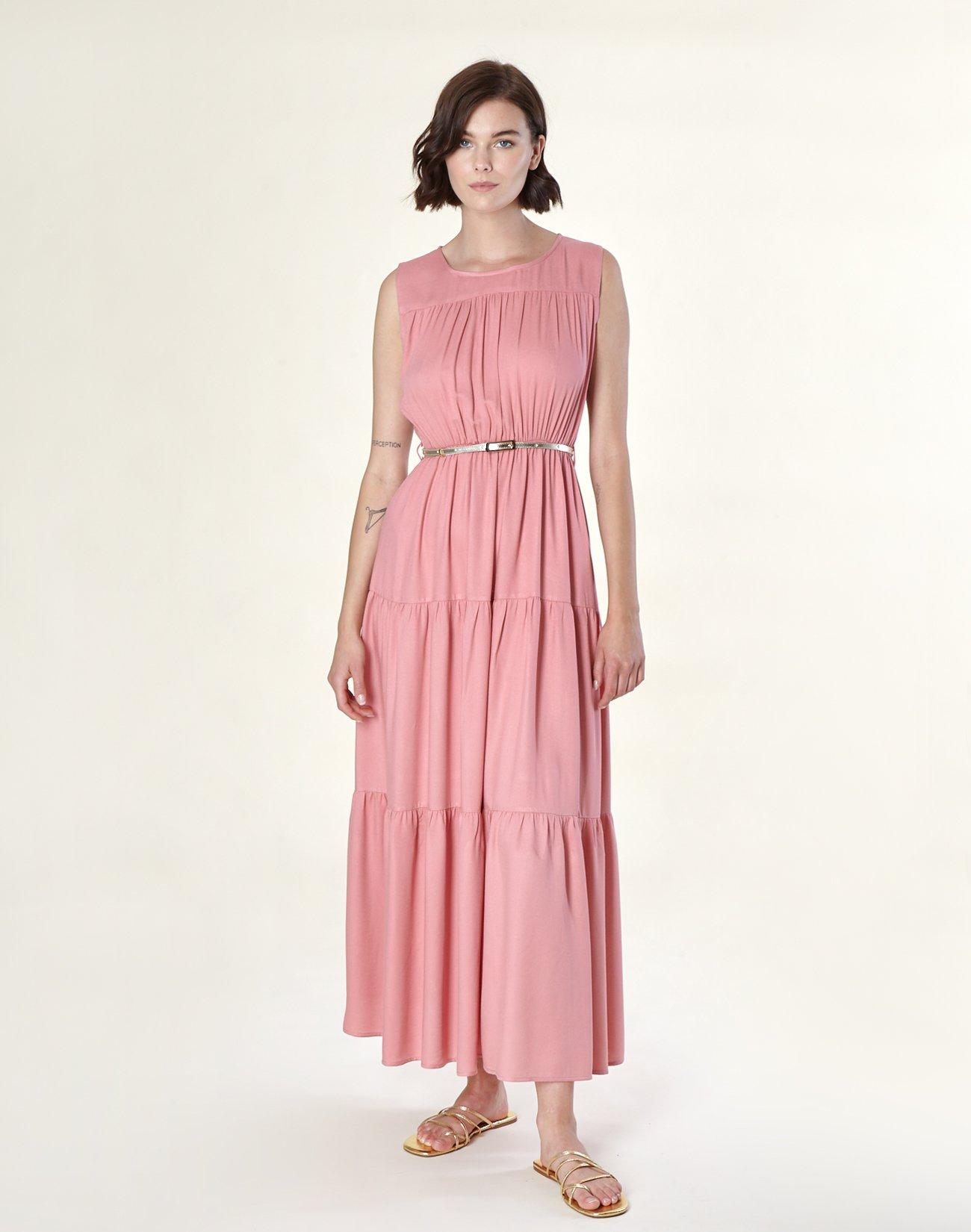 Μάξι φόρεμα με πιέτες