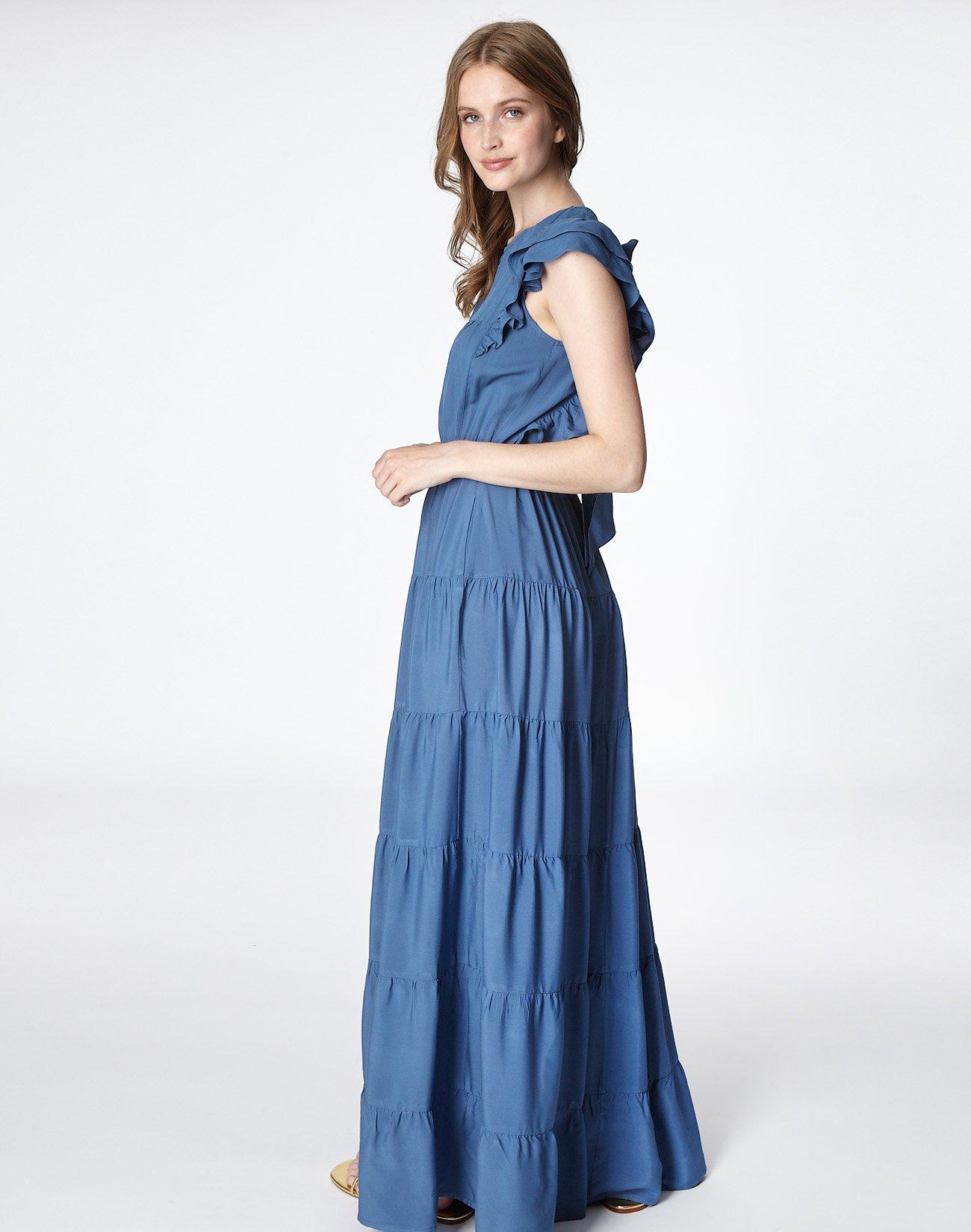 Μάξι φόρεμα με φιόγκο