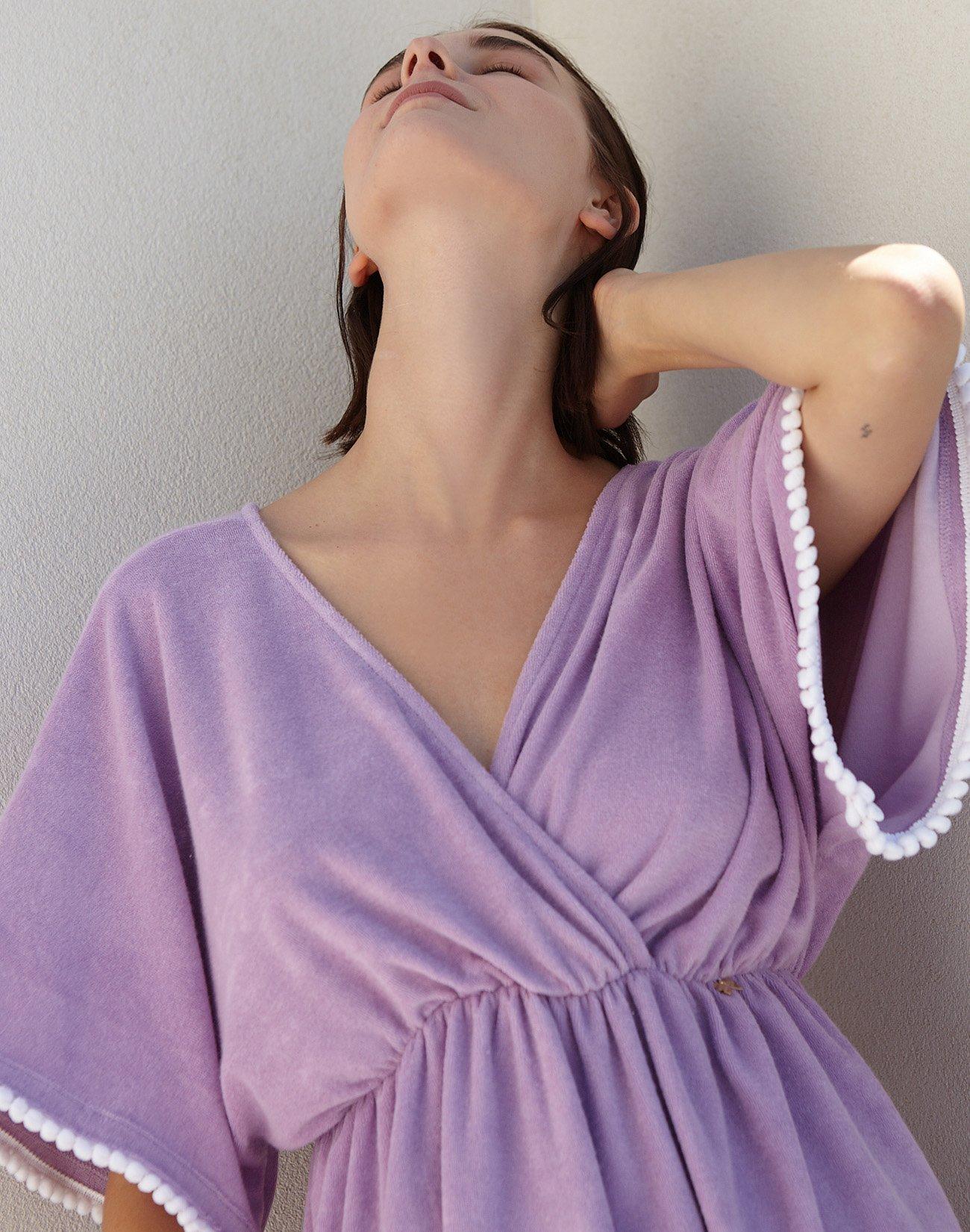 Μίνι φόρεμα πετσέτα με πον πον