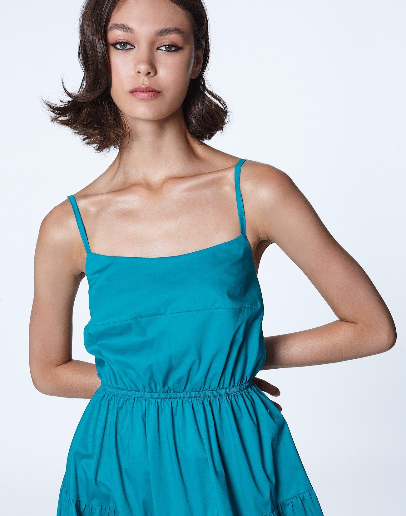 Μίντι φόρεμα με δέσιμο