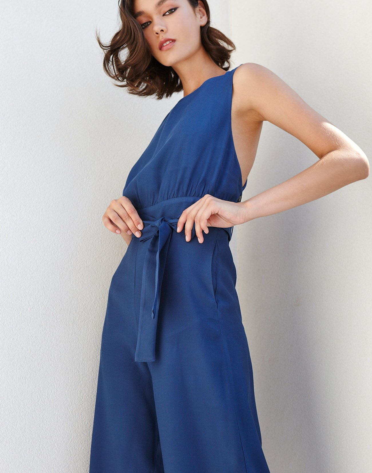 Jumpsuit with open back