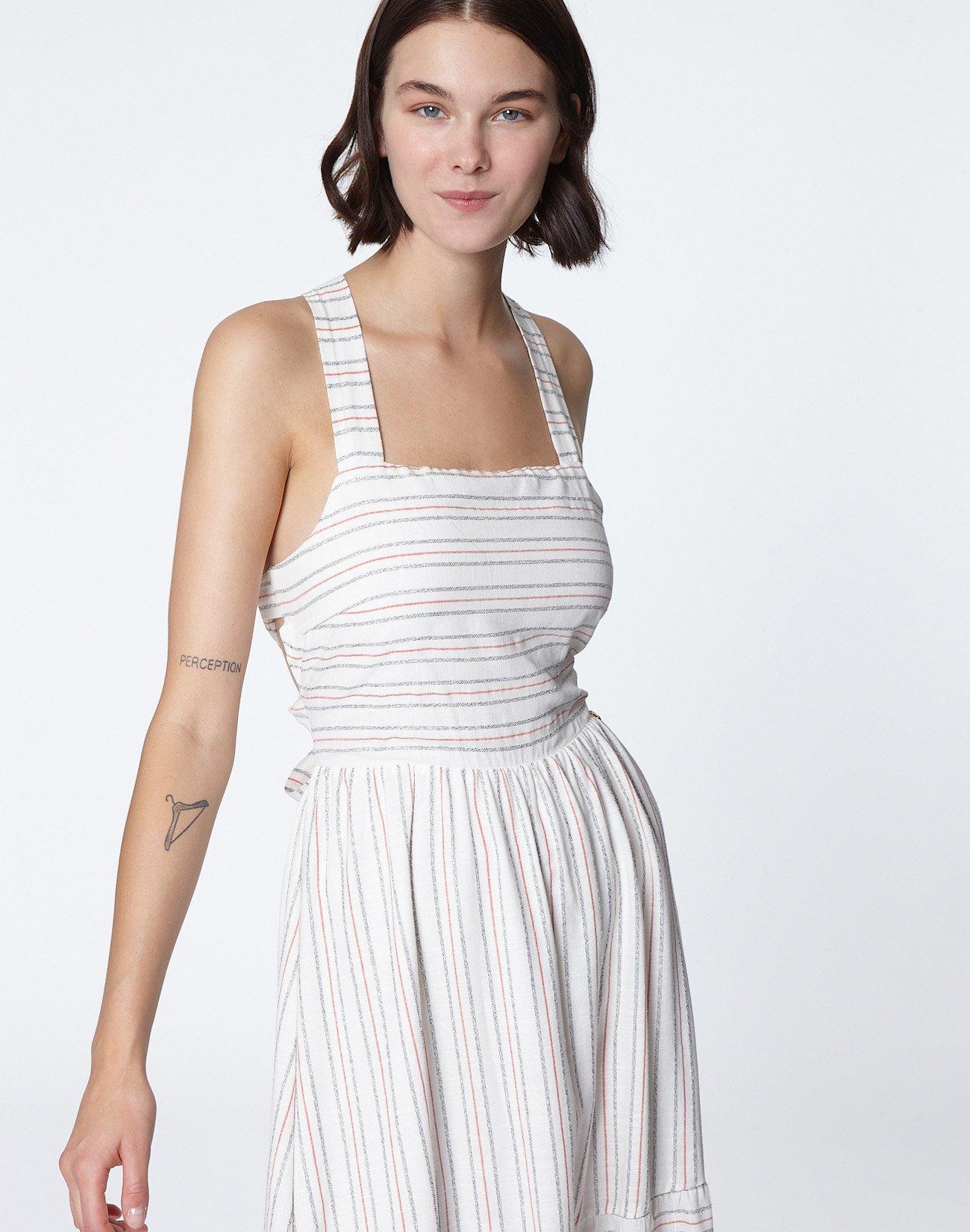Ριγέ μάξι φόρεμα