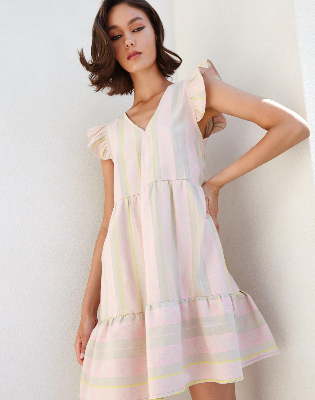 Μίνι ζακάρ φόρεμα