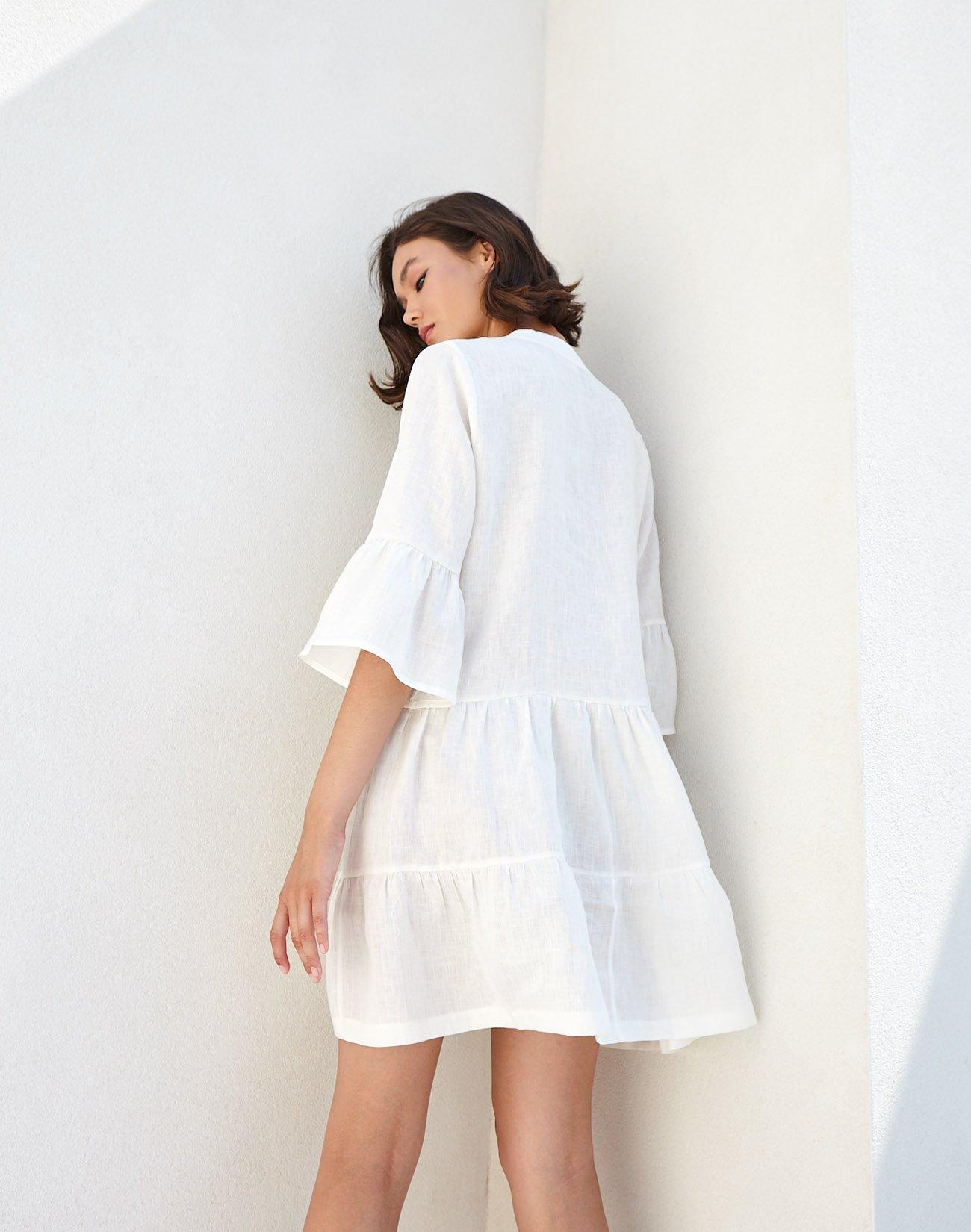 Linen  kaftan dress