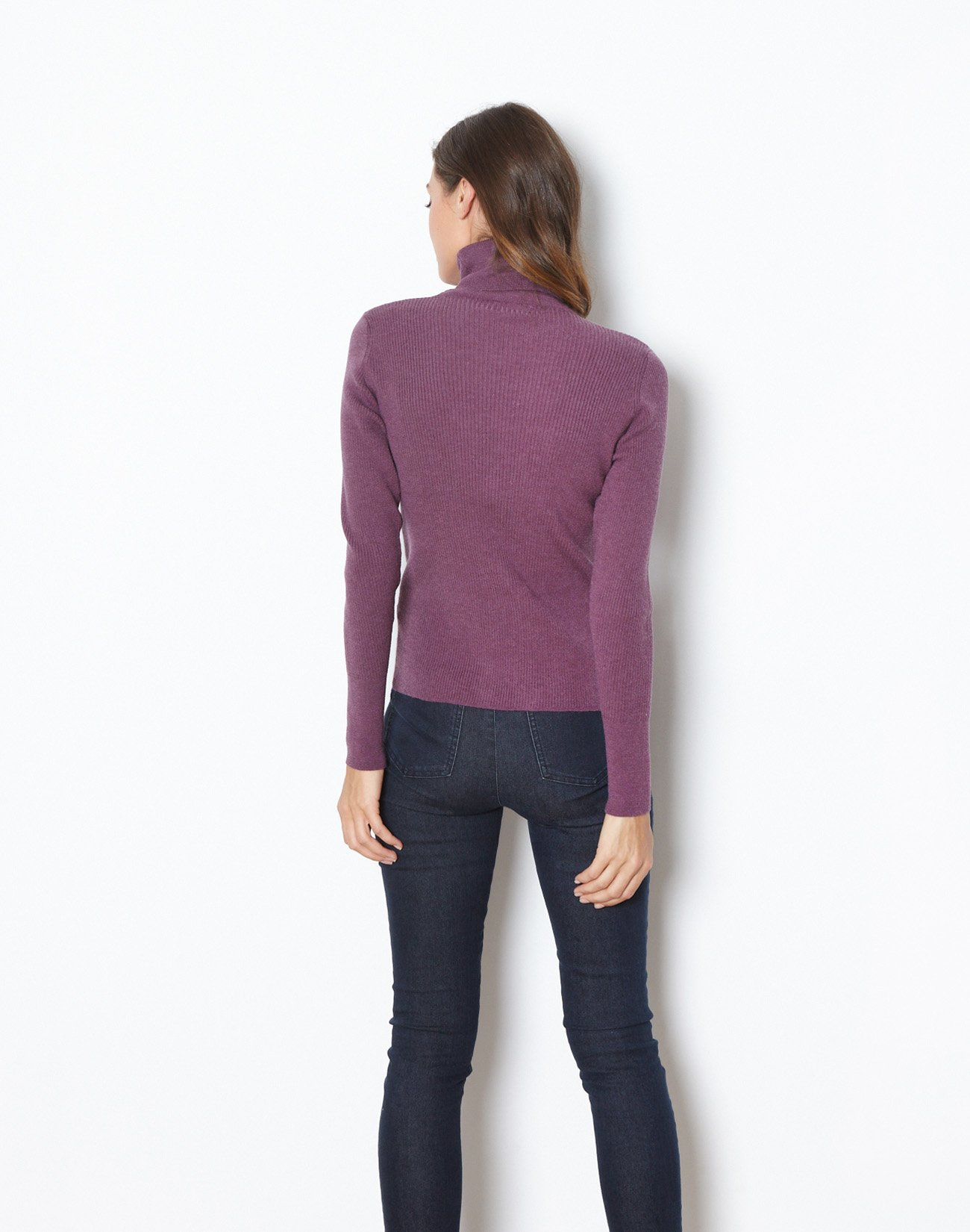 Knit top with high neck