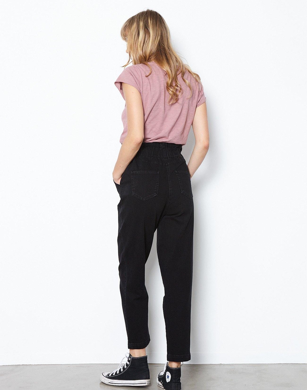 High waist baggy jeans