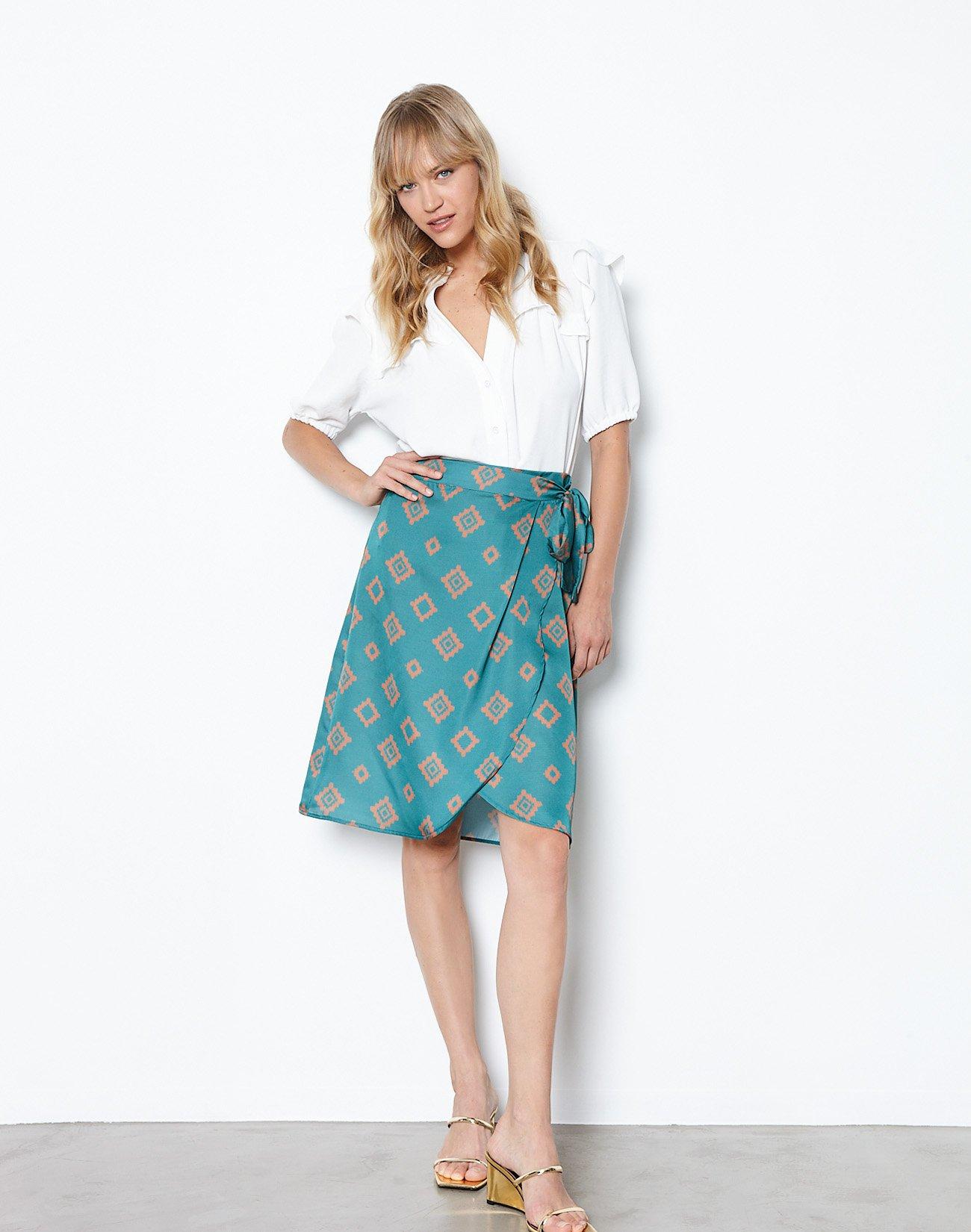 Εμπριμέ κρουαζέ φούστα