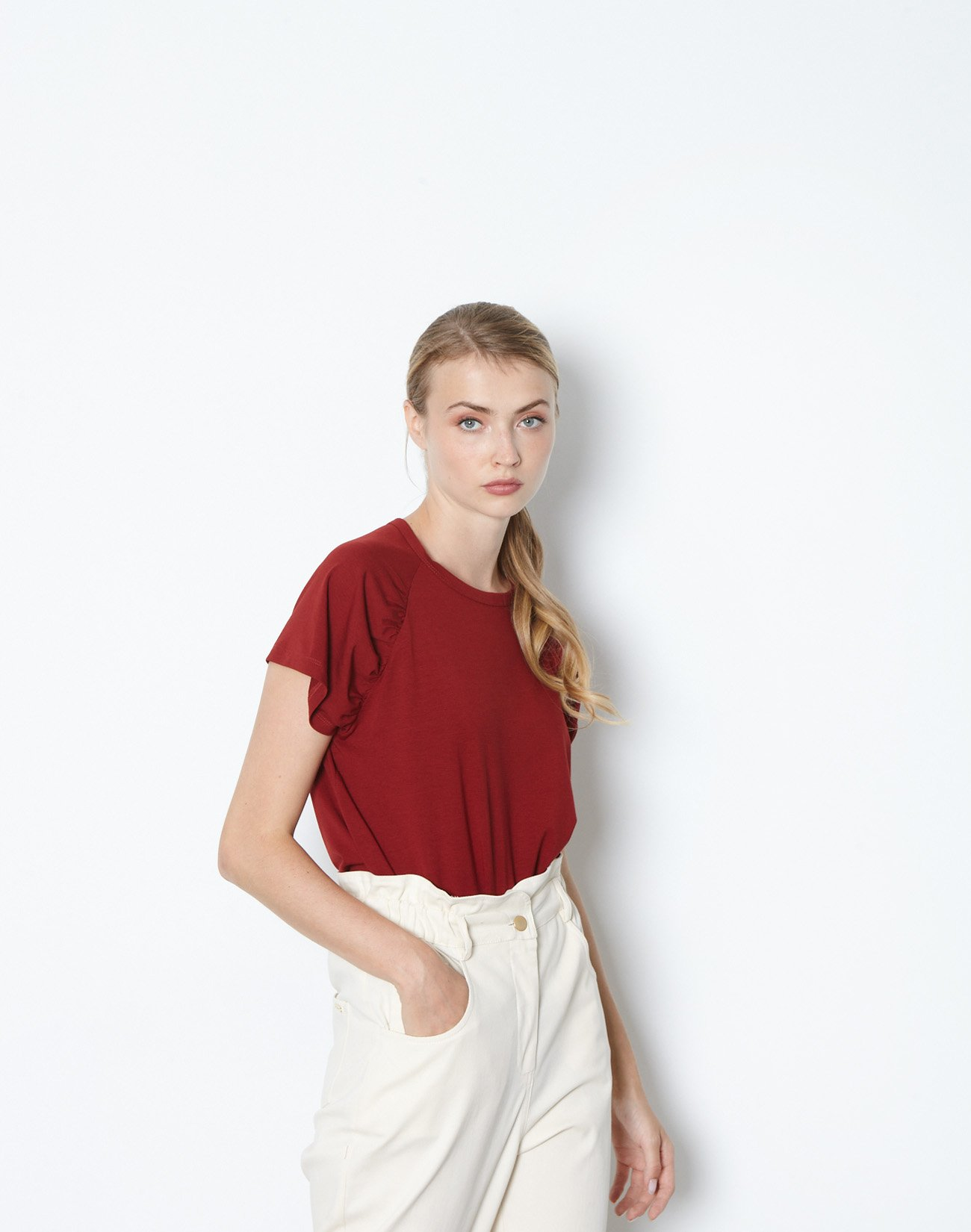 Top with pleating detail