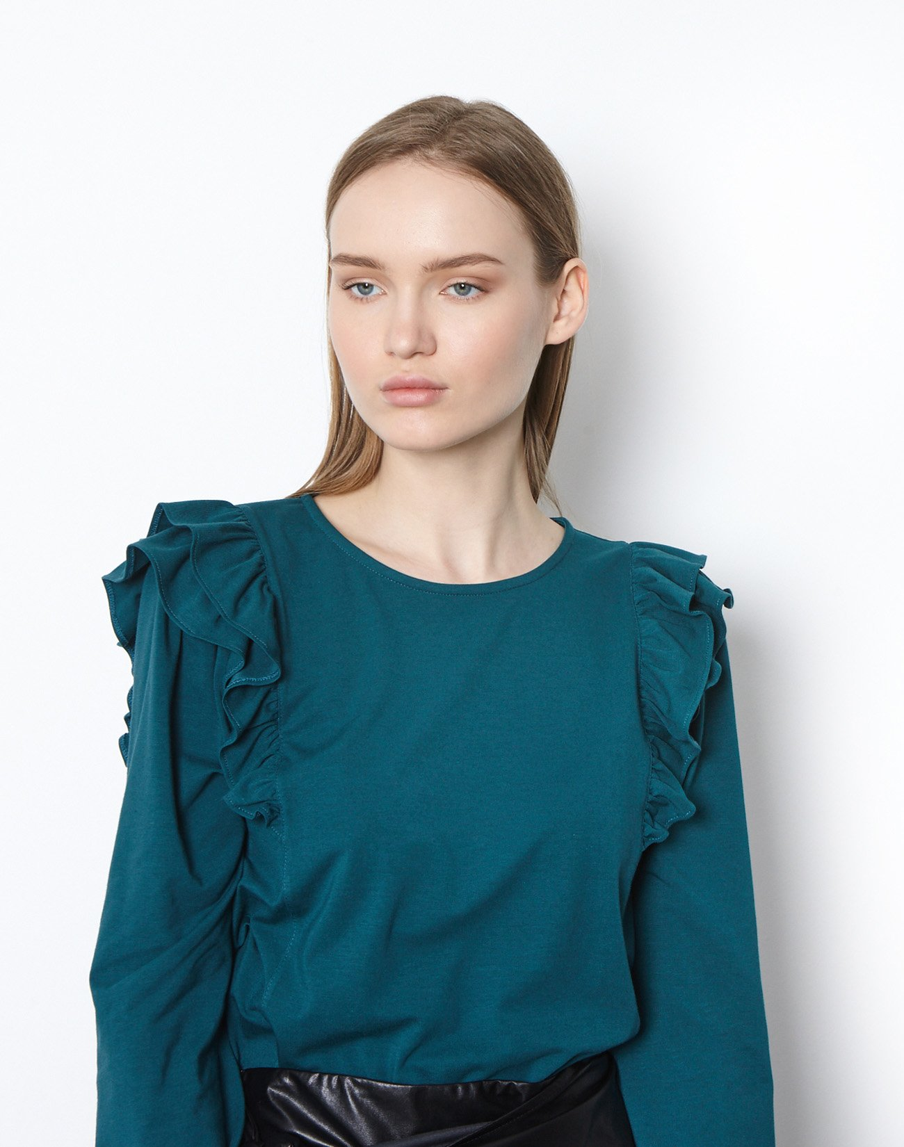 Top with double ruffles