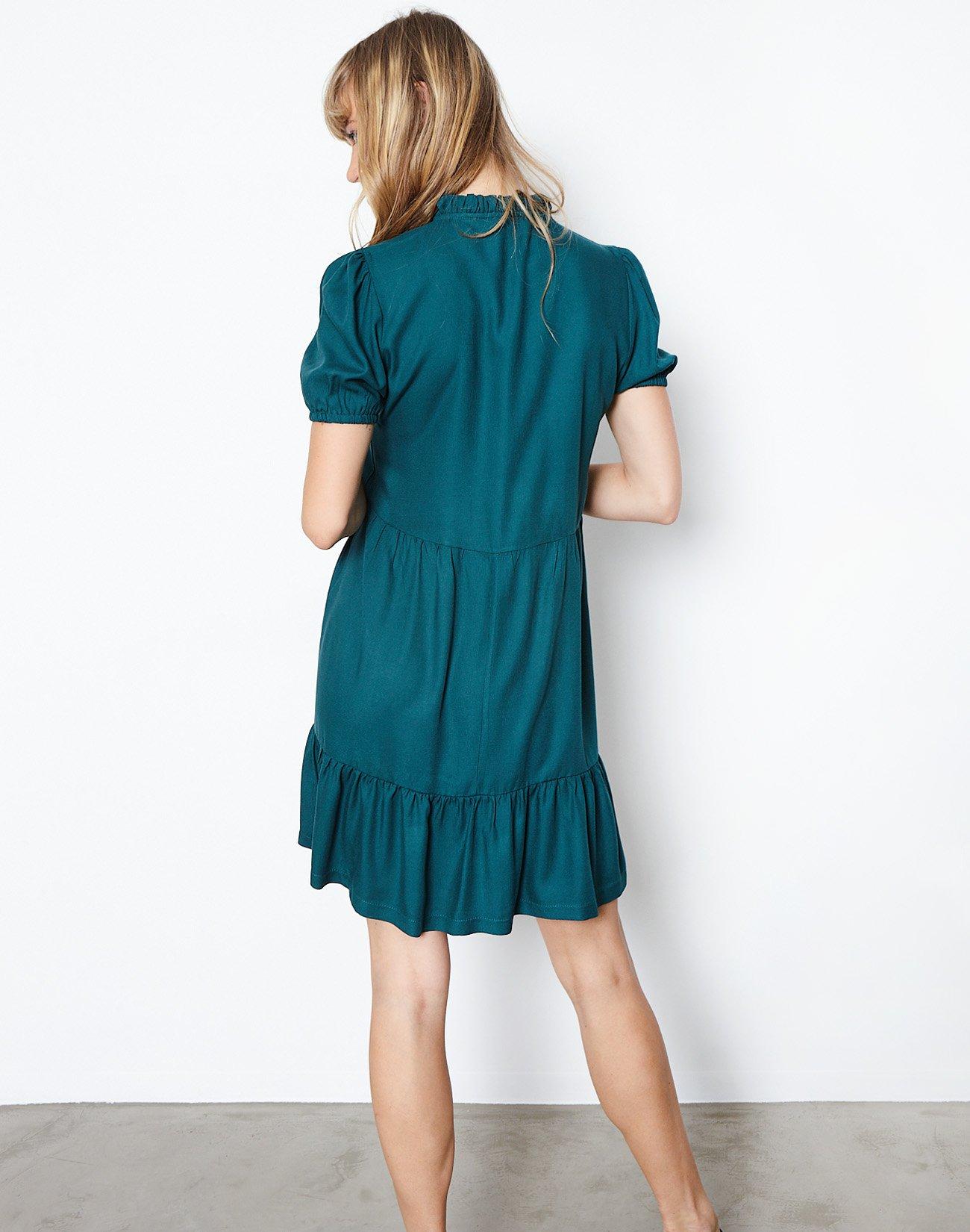 Μίνι φόρεμα με βολάν