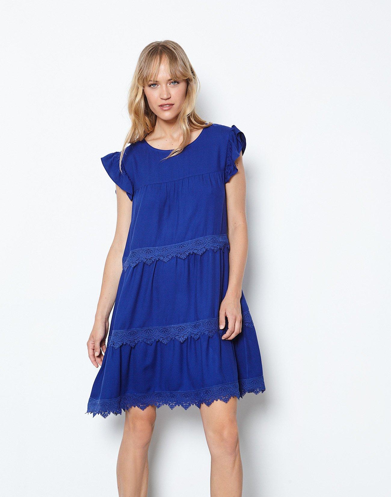 Mini dress with lace