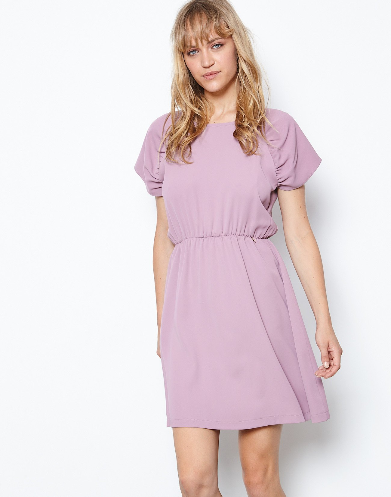 Mini dress with buttons