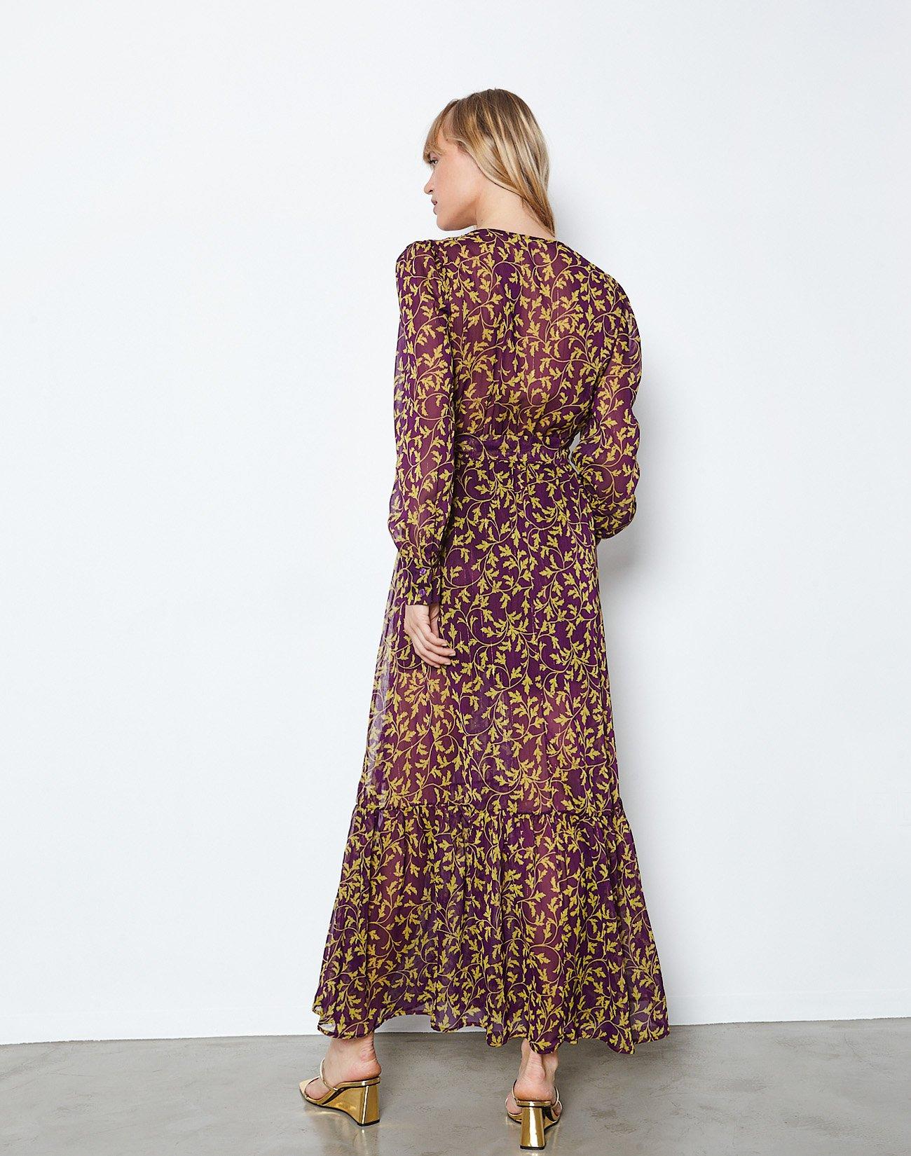 Εμπριμέ μάξι κρουαζέ φόρεμα