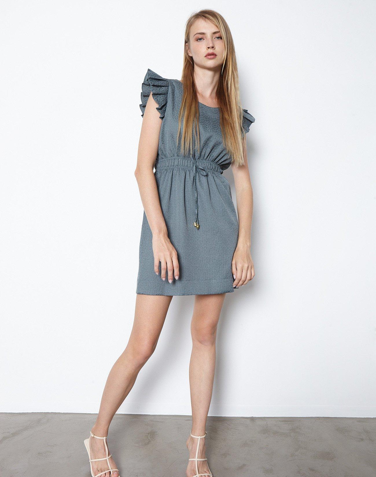Mini jacquard dress