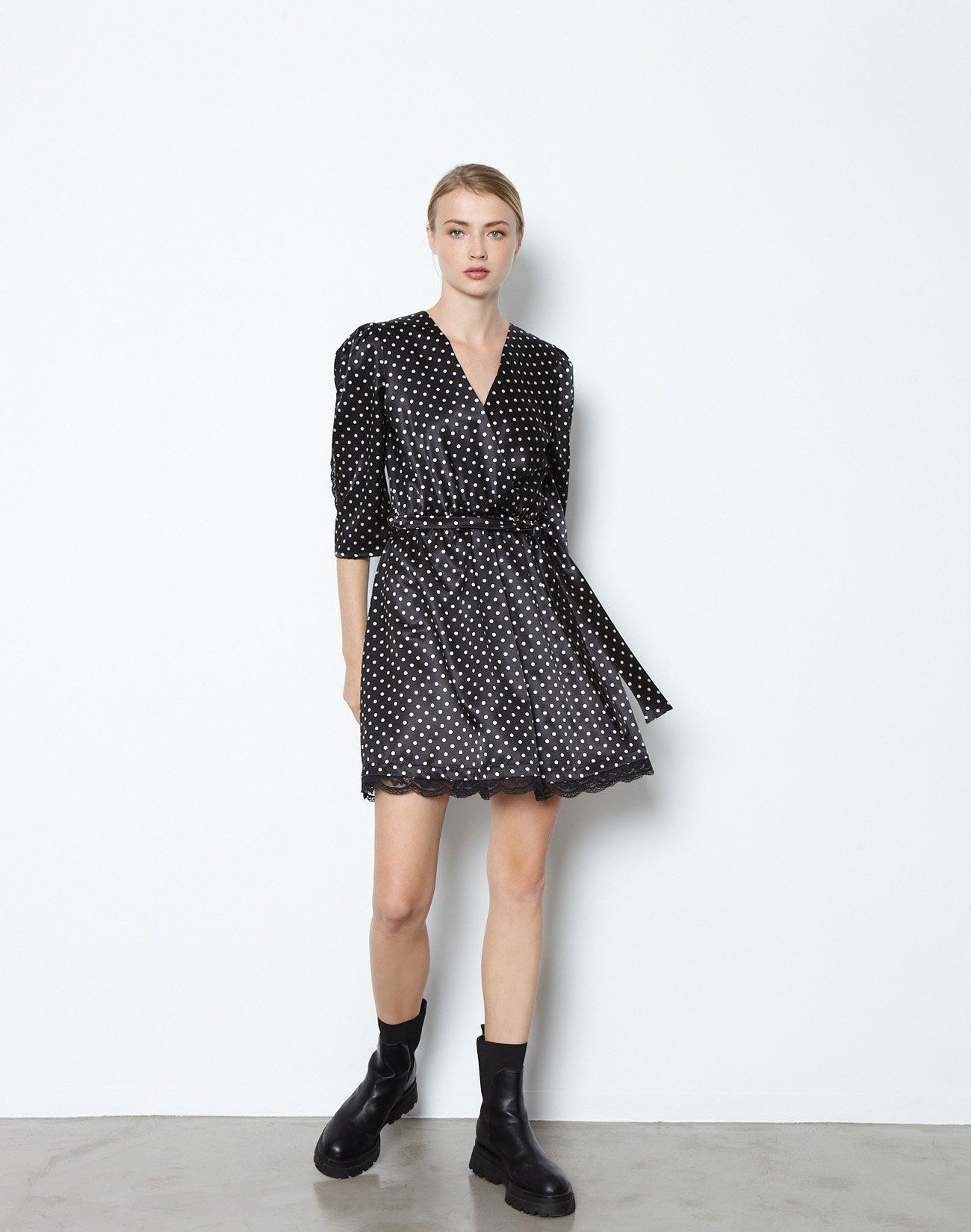 Mini polka dot dress