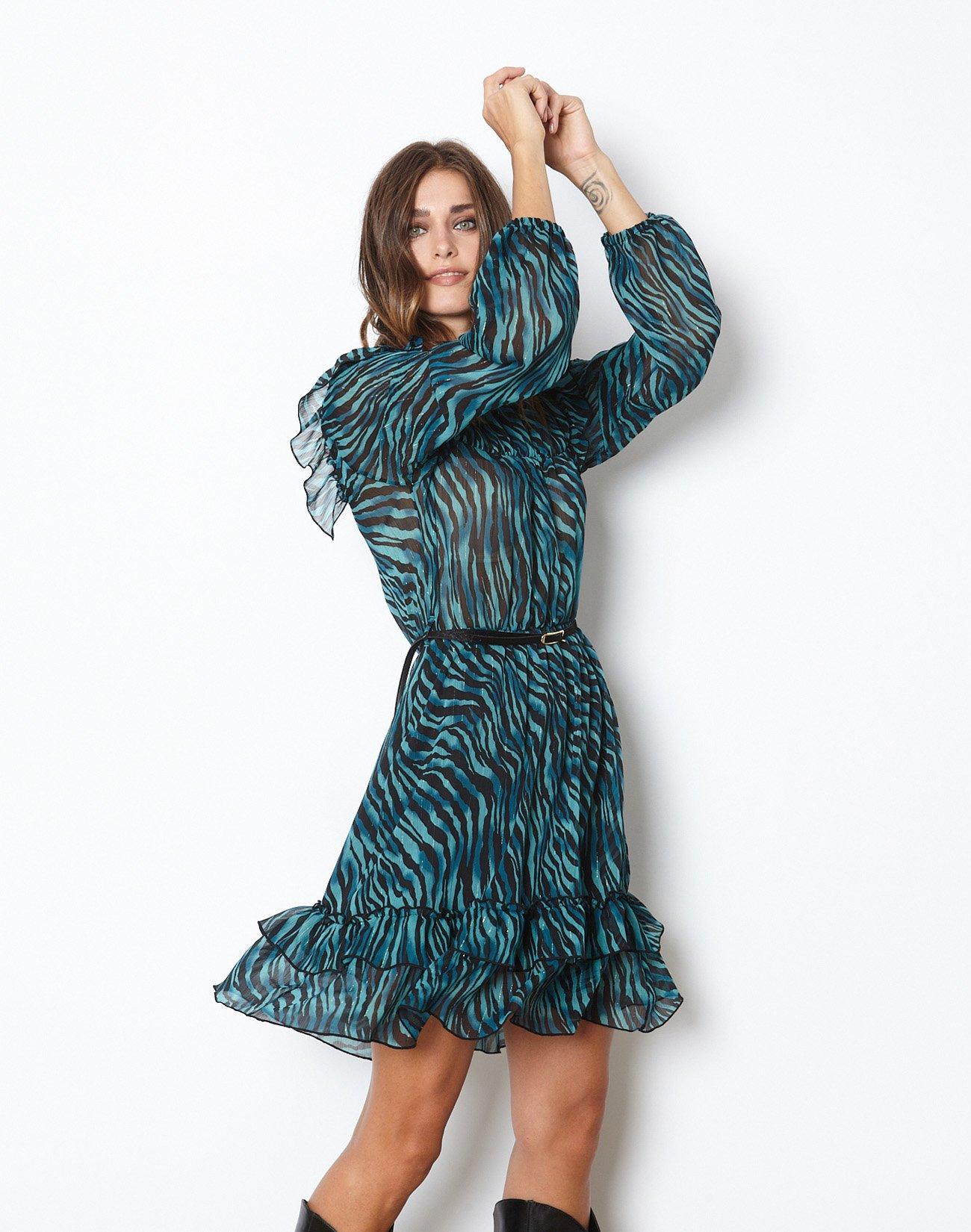 Animal print μίνι φόρεμα