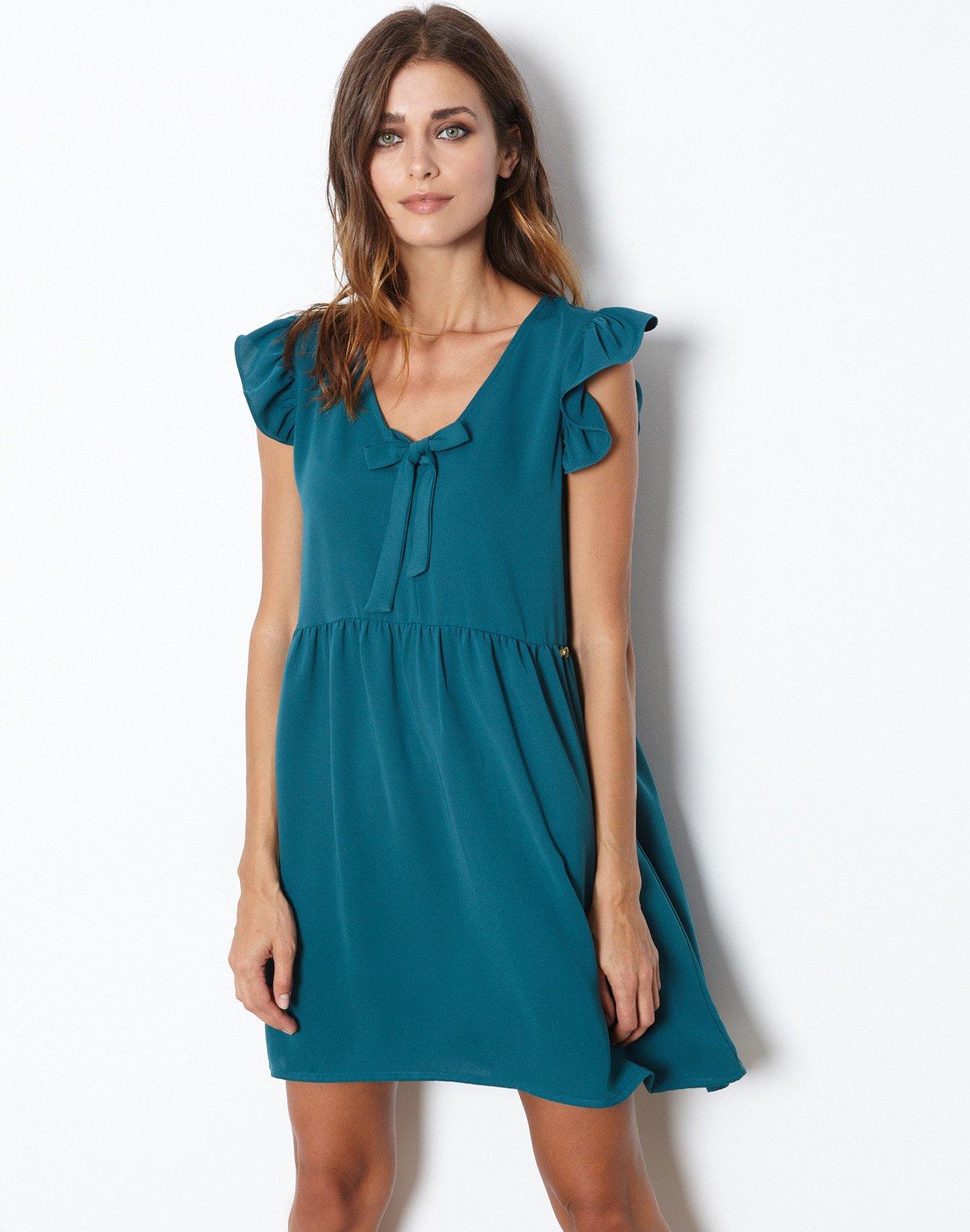Μίνι φόρεμα με δέσιμο