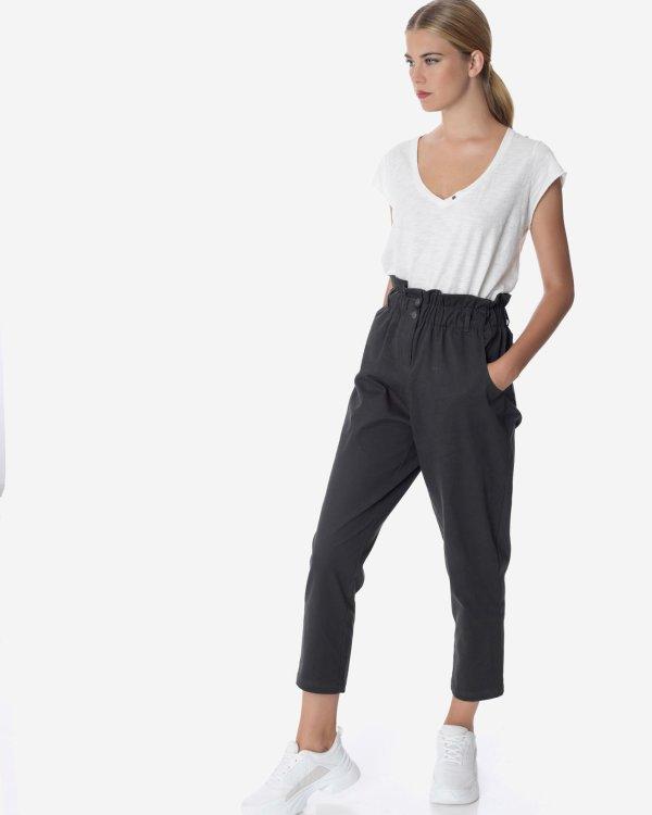 High waist baggy trousers