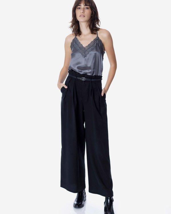 Φαρδύ παντελόνι με πιέτες