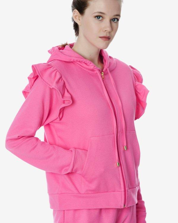 Ruffled hoodie