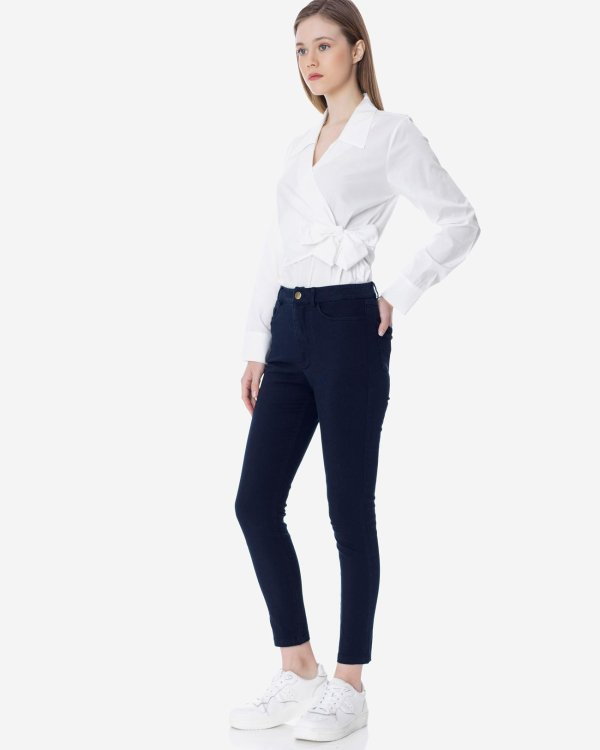 High waisted basic trousers