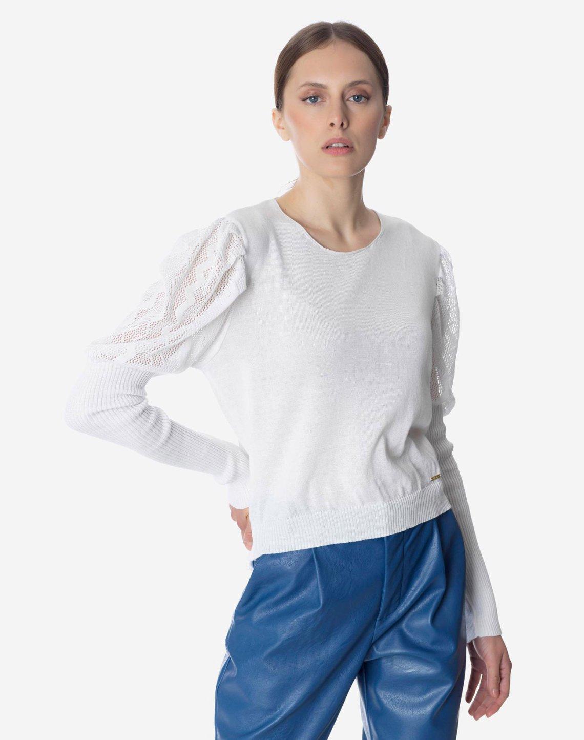 Μπλούζα με φουσκωτό μανίκι
