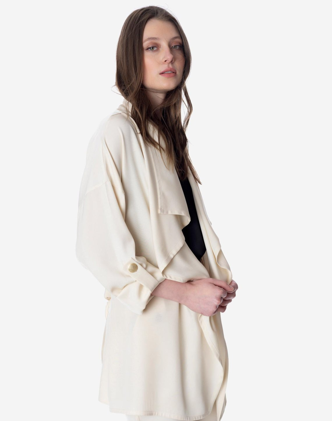 Flowing jacket with belt