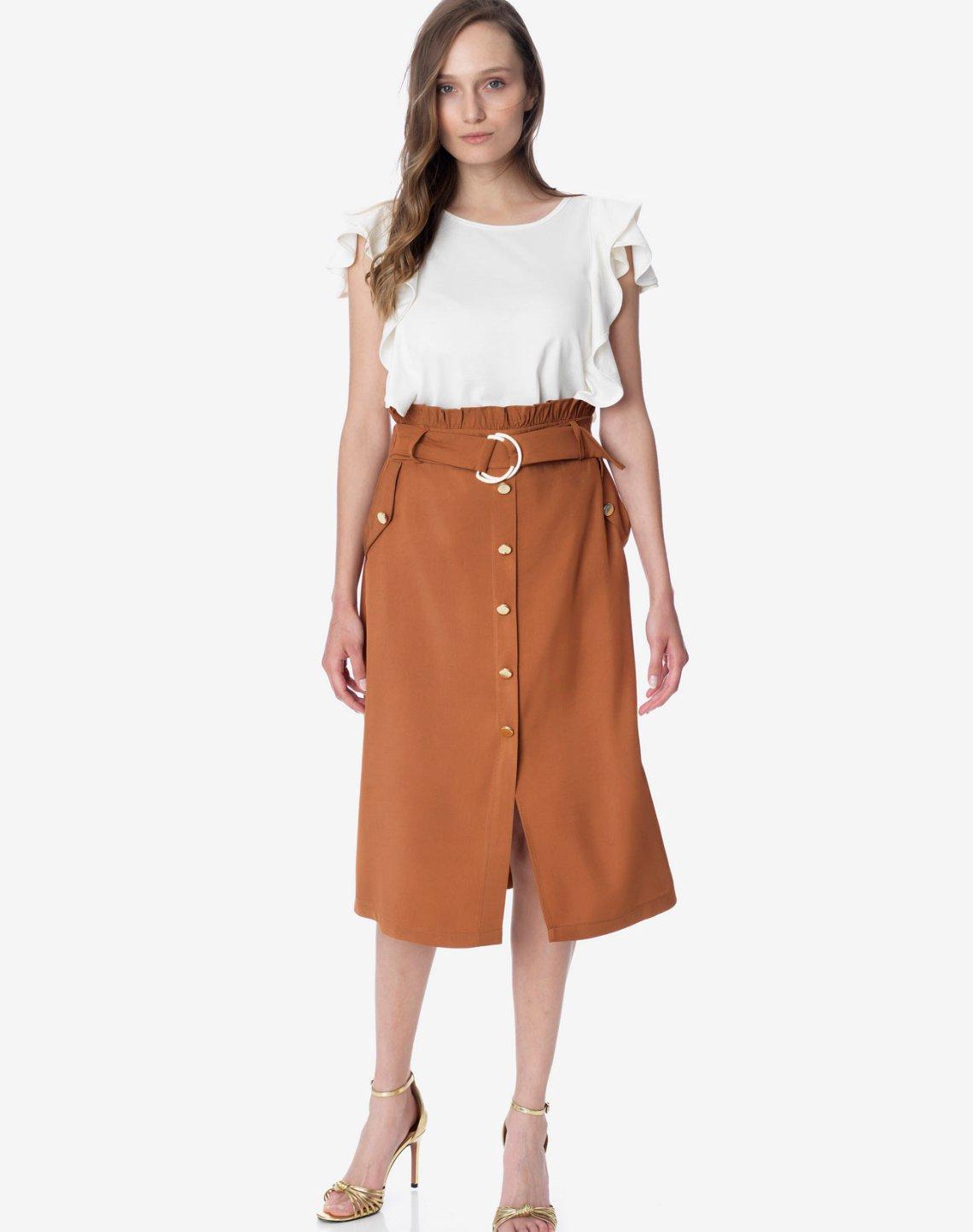 Ψηλόμεση μίντι φούστα