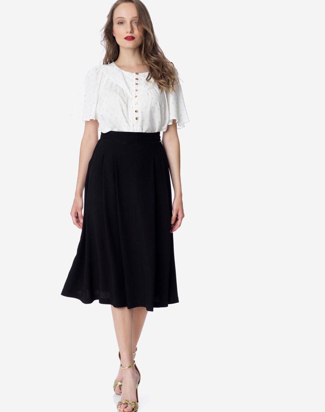 Μίντι φούστα με πιέτες