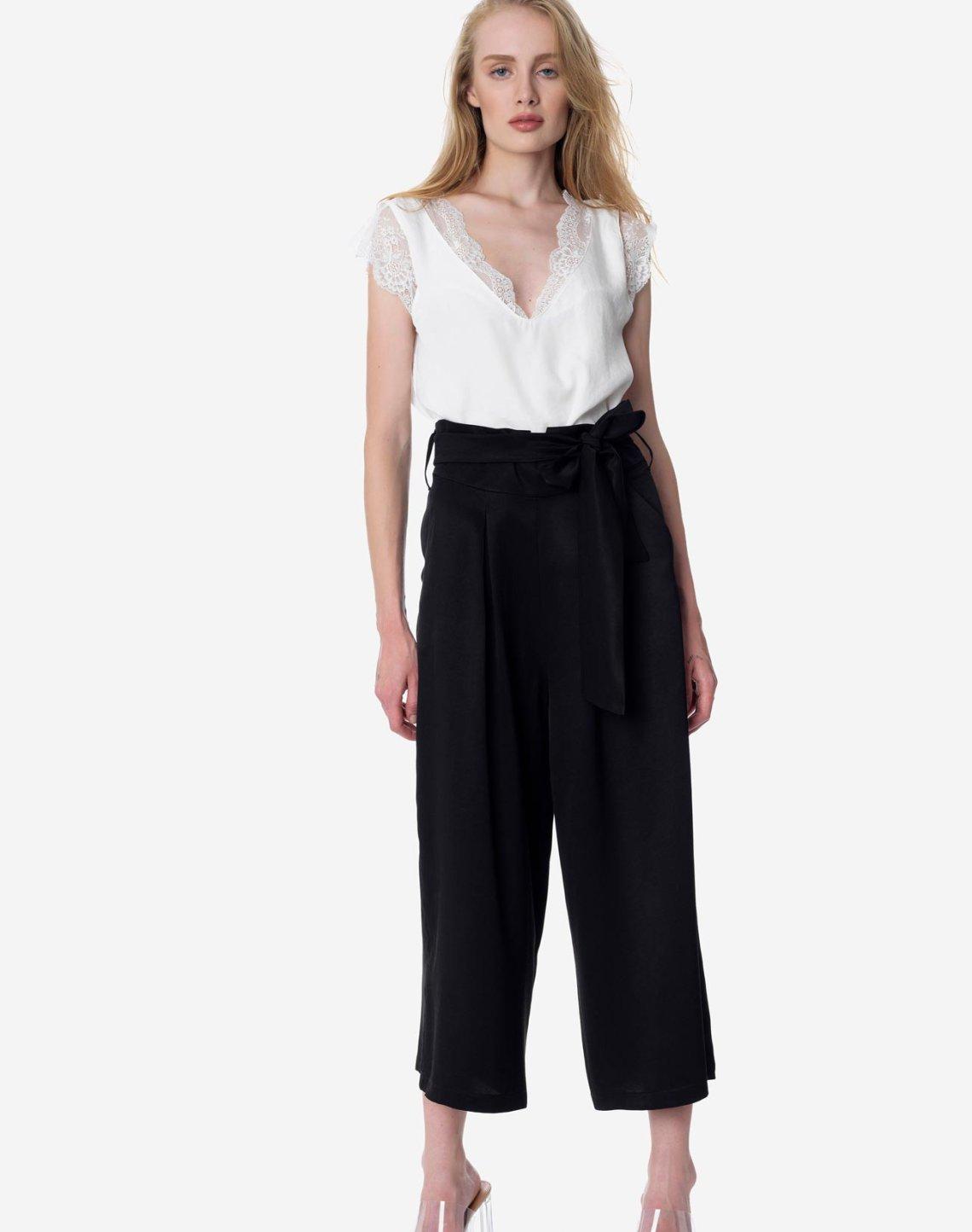 Παντελόνι culotte με πιέτες