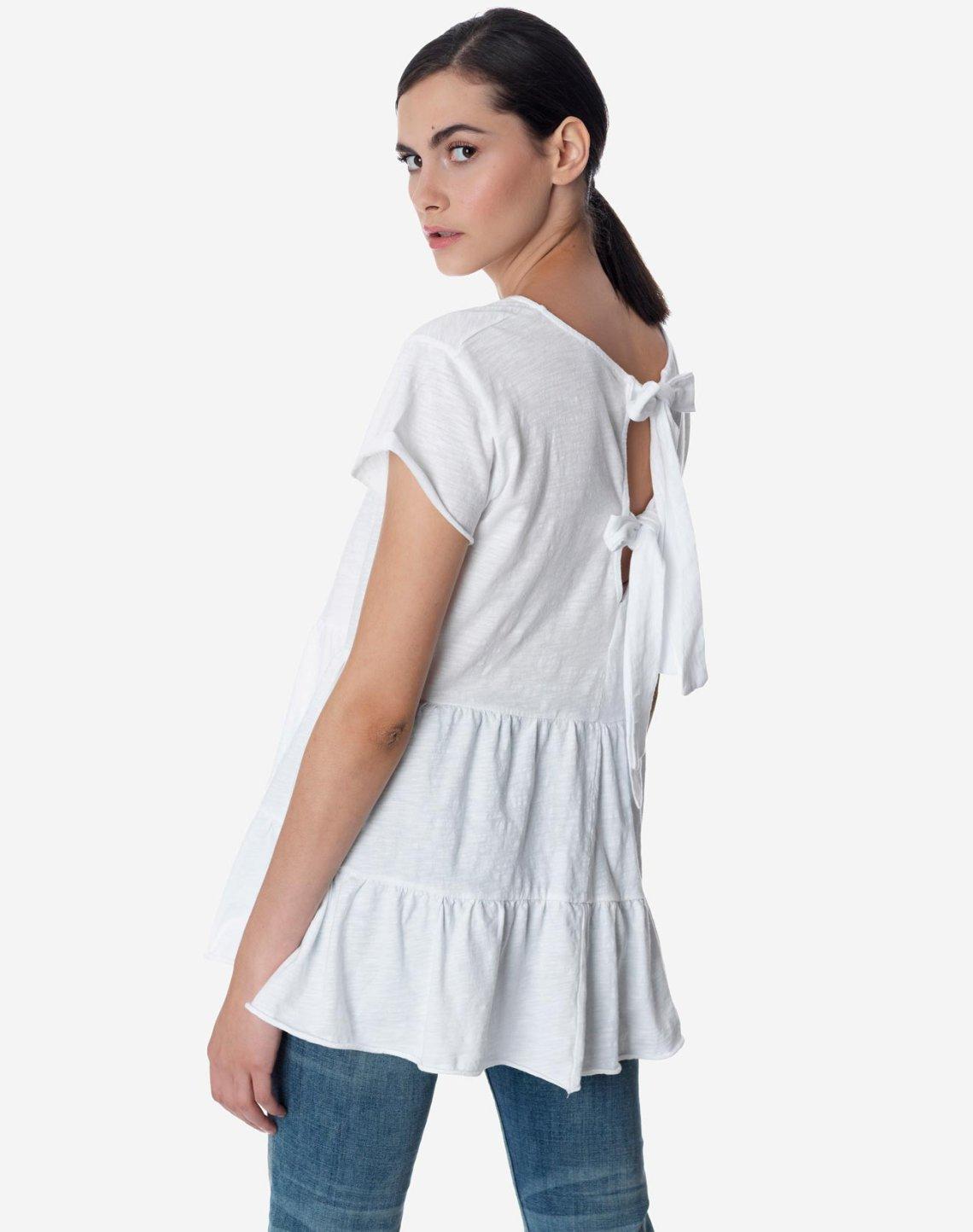 Μπλούζα με φιόγκους στην πλάτη