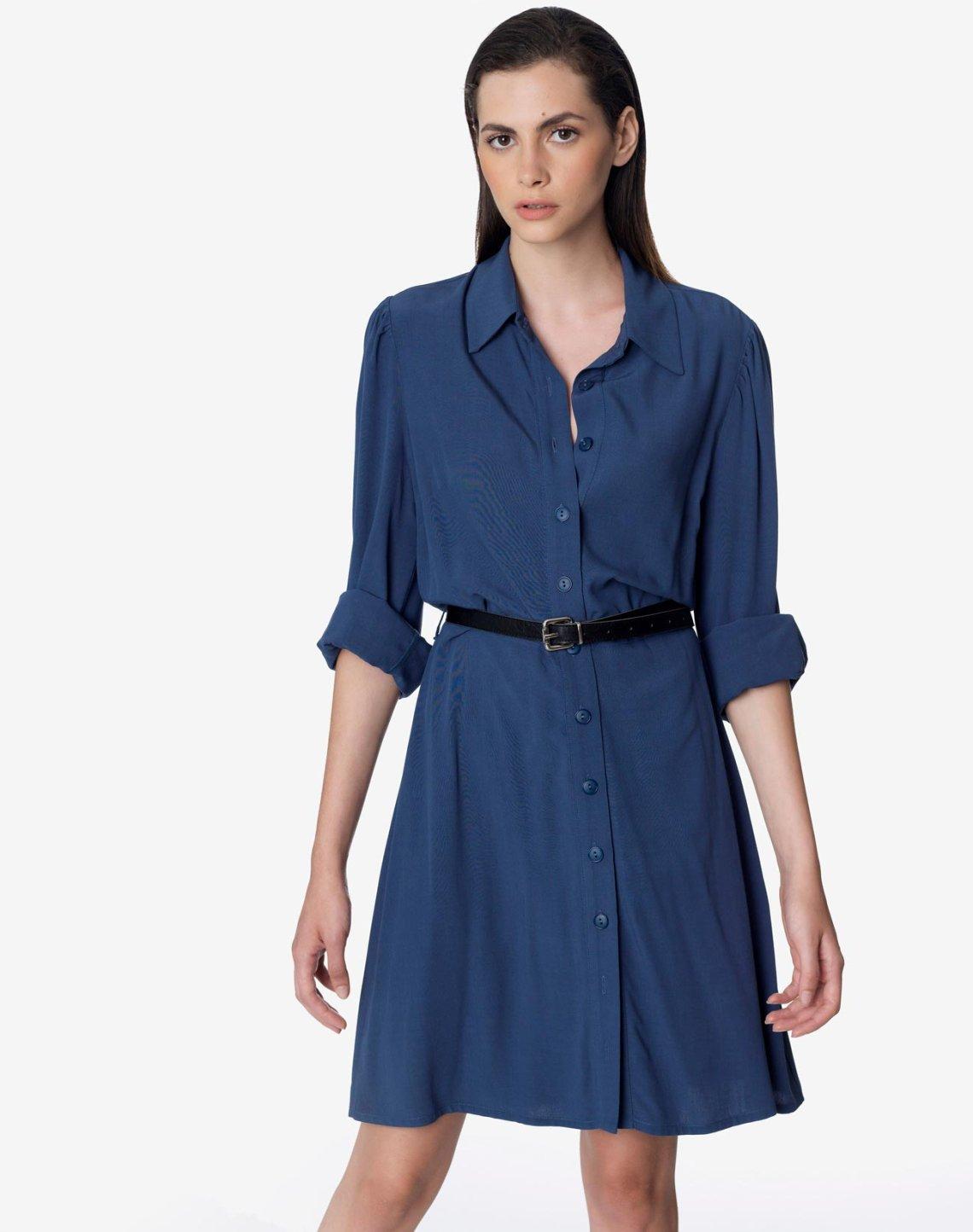 Mini shirt dress