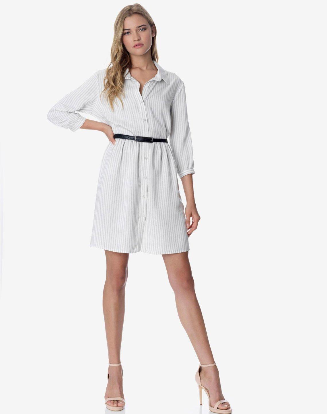Ριγε μίνι φόρεμα σεμιζιέ