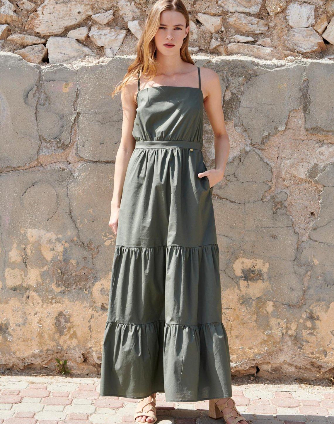 Μάξι φόρεμα με τιράντες