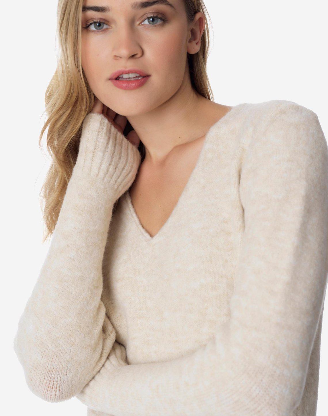Sweater with V neckline