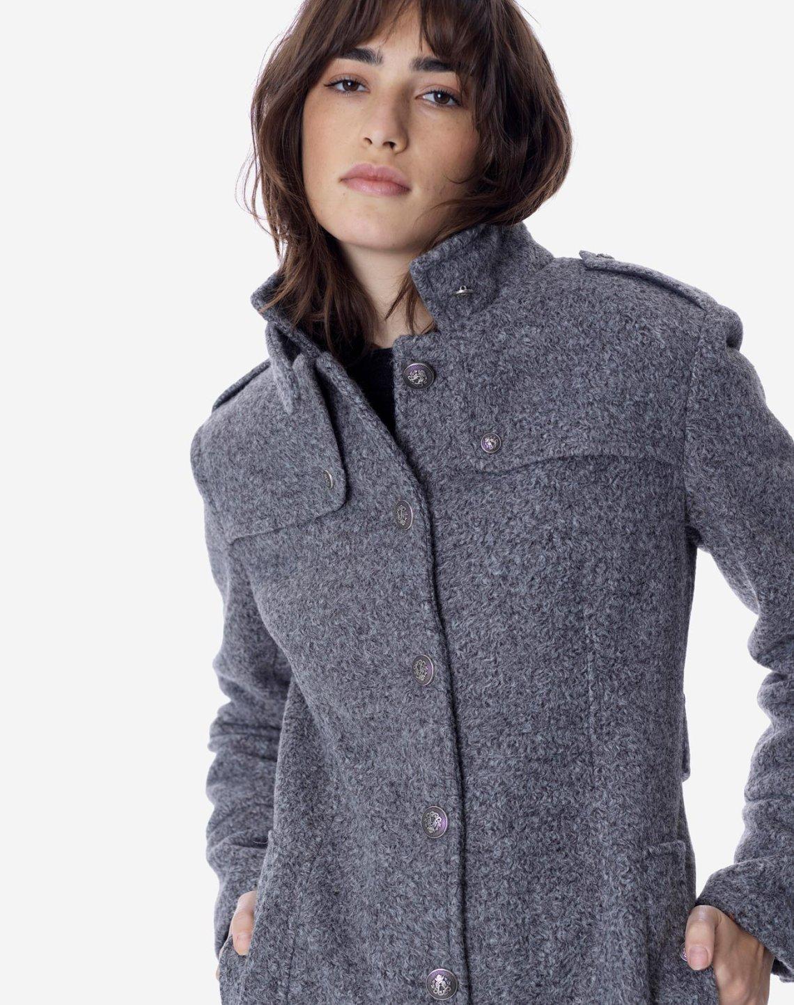 Παλτό σε military style