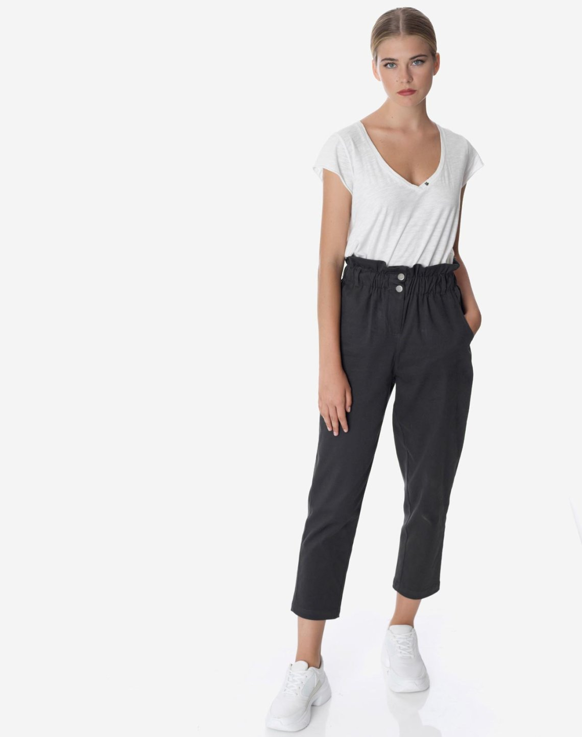 High waist baggy trousers